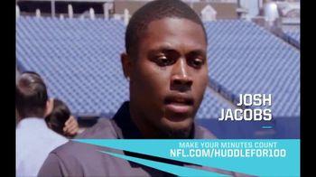 NFL TV Spot, 'Huddle for 100: End of Season' Feat. Josh Jacobs, Patrick Mahomes, Charles Tillman - Thumbnail 4
