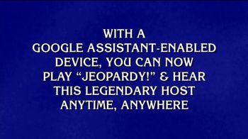 Google Assistant TV Spot, 'Jeopardy! Clue for You: Legendary Host' - Thumbnail 3