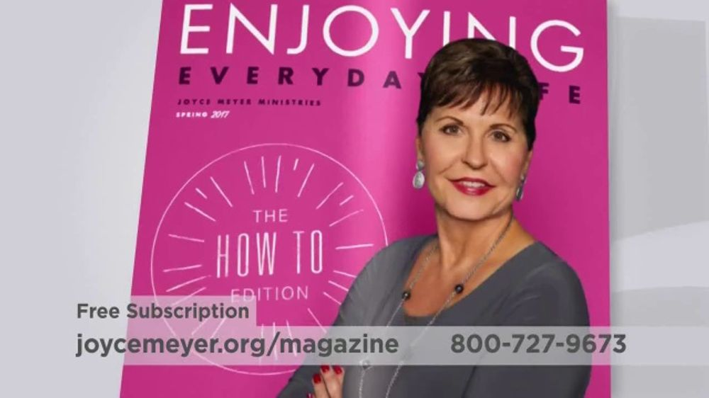 Joyce Meyer Ministries Enjoying Everyday Life Magazine TV Commercial, 'At Work'