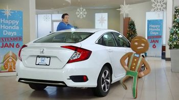 Happy Honda Days TV Spot, 'Gingerbread Man' [T2]