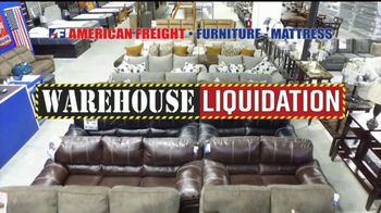American Freight Warehouse Liquidation TV Spot, 'Mattress Sets, Sofas and Living Rooms'