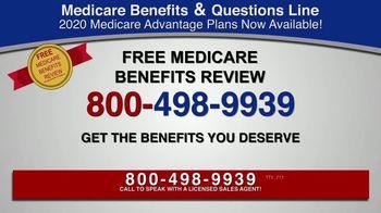 Medicare Benefits & Questions Line TV Spot, '2020 Medicare Advantage Plans: Additional Benefits'
