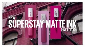 Maybelline New York SuperStay Matte Ink TV Spot, 'Pink Edition: Pink With Attitude' - Thumbnail 1