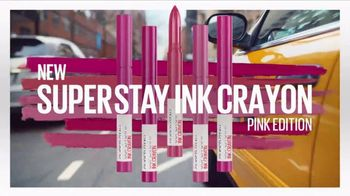 Maybelline New York SuperStay Matte Ink TV Spot, 'Pink Edition: Pink With Attitude' - Thumbnail 8
