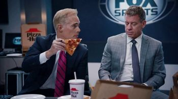 Pizza Hut Super Bowl 2020 TV Spot, 'Booth Party' Featuring Troy Aikman, Jimmy Johnson,  Roman Reigns, Sasha Banks - Thumbnail 2