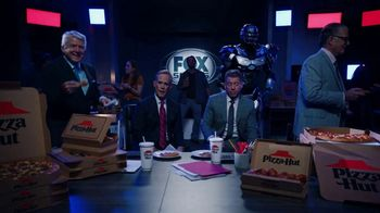 Pizza Hut Super Bowl 2020 TV Spot, 'Booth Party' Featuring Troy Aikman, Jimmy Johnson,  Roman Reigns, Sasha Banks - Thumbnail 5