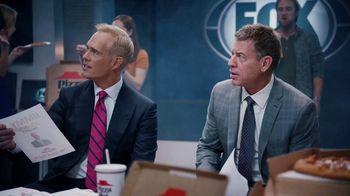 Pizza Hut Super Bowl 2020 TV Spot, 'Booth Party' Featuring Troy Aikman, Jimmy Johnson,  Roman Reigns, Sasha Banks - Thumbnail 8