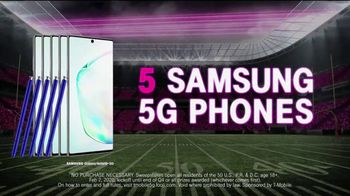 T-Mobile TV Spot, 'Big Game 2020: Nationwide 5G Phone Giveaway' - Thumbnail 6