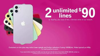 T-Mobile TV Spot, 'Two Lines for $90 Plus Two iPhone 11s' - Thumbnail 9
