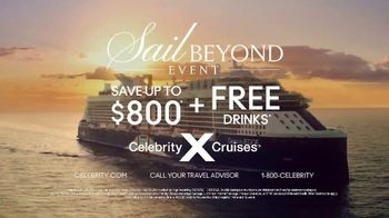 Celebrity Cruises Sail Beyond Event TV Spot, 'Up to $800' Song by Jefferson Airplane