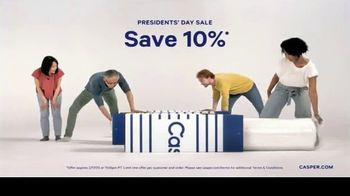 Casper Presidents Day Sale TV Spot, 'Oh Hello: 10% Off' - Thumbnail 3