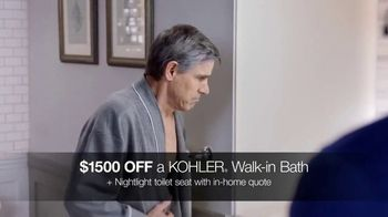 Kohler Walk-In Bath TV Spot, 'Independence With Peace of Mind: $1,500 Off'