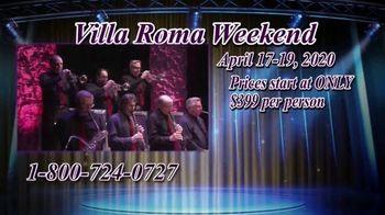 Villa Roma Resort & Conference Center TV Spot, 'Villa Roma Weekend' - Thumbnail 4