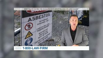 1-800-LAW-FIRM TV Spot, 'Asbestos: Financial Compensation'