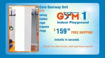 Gym1 Indoor Playground TV Spot, 'Swing, Climb, Play INDOORS: $159.95' - Thumbnail 9
