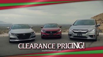 Happy Honda Days TV Spot, 'Utah: Clearance Pricing' [T2] - Thumbnail 3