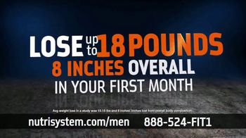 Nutrisystem BOGO Sale TV Spot, \'Nutrisystem for Men: Time to Get Healthy: 18 Pounds\'