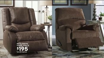 Ashley HomeStore New Year's Sale TV Spot, 'Welcome in the Year: Recliners, Sofa, Dining & Beds' Song by Midnight Riot - Thumbnail 4