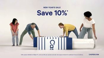 Casper New Year's Sale TV Spot, 'Ring In: 10 Percent'