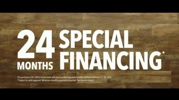 Lumber Liquidators Winter Sale TV Spot, 'Changes: 24 Month Special Financing' Song by Electric Banana - Thumbnail 8