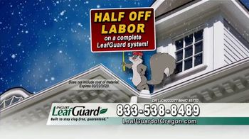 LeafGuard of Oregon Winter Half Off Sale TV Spot, 'Old, Open Top Gutters' - Thumbnail 3