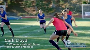 Hand & Stone TV Spot, 'Valentine's Day: Free Massage or Facial' Featuring Carli Lloyd - Thumbnail 1