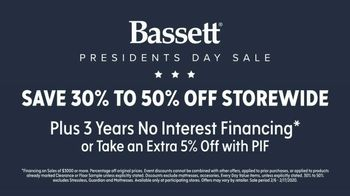 Bassett Presidents Day Sale TV Spot, 'Special Buys: 30 to 50 Percent Off Furniture and Rugs' - Thumbnail 6