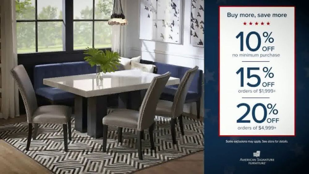 American Signature Furniture Presidents Day Sale TV Commercial, 'The Styles You Want'