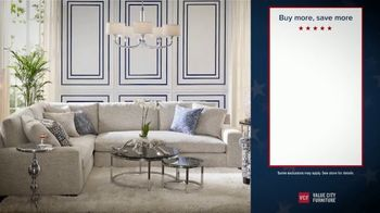 Value City Furniture Presidents Day Sale TV Spot, 'Buy More and Save' - Thumbnail 2