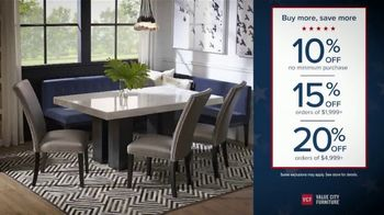 Value City Furniture Presidents Day Sale TV Spot, 'Buy More and Save' - Thumbnail 3