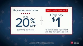 Value City Furniture Presidents Day Sale TV Spot, 'Buy More and Save' - Thumbnail 5