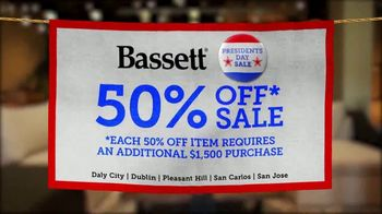 Bassett Presidents Day Sale TV Spot, '50% Off Beds, Recliners & Tables' - Thumbnail 2