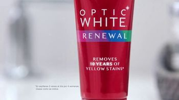 Colgate Optic White Renewal TV Spot, 'Eliminar 10 años' [Spanish] - Thumbnail 4
