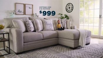Bob's Discount Furniture Bobfest 2020 TV Spot, 'Cottage Chic Sectional' - Thumbnail 4