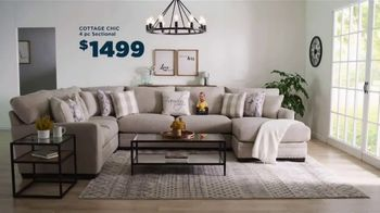 Bob's Discount Furniture Bobfest 2020 TV Spot, 'Cottage Chic Sectional' - Thumbnail 8
