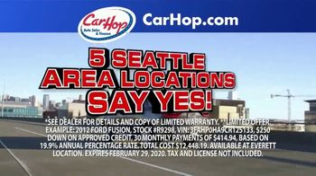 CarHop Auto Sales & Finance TV Spot, 'Get a Great Used Car'