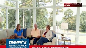 Champion Windows TV Spot, 'Sunroom: 20 Percent' - Thumbnail 1