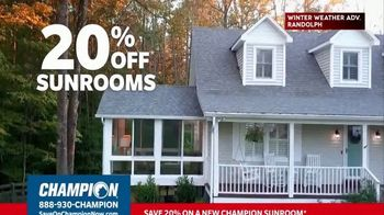 Champion Windows TV Spot, 'Sunroom: 20 Percent' - Thumbnail 3