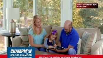Champion Windows TV Spot, 'Sunroom: 20 Percent' - Thumbnail 4