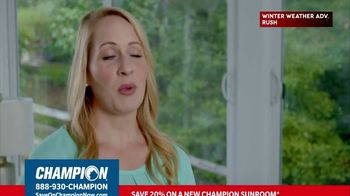 Champion Windows TV Spot, 'Sunroom: 20 Percent' - Thumbnail 6