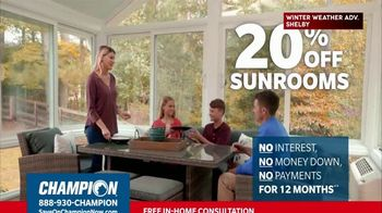 Champion Windows TV Spot, 'Sunroom: 20 Percent' - Thumbnail 8
