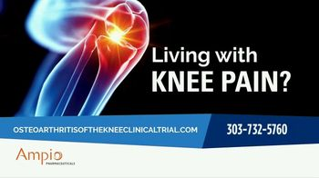 Ampio Pharmaceuticals TV Spot, 'Clinical Research Trial: Knee Pain' - Thumbnail 1