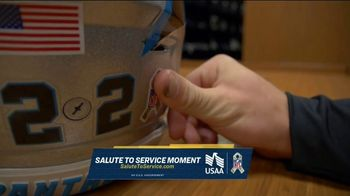 USAA TV Spot, 'Salute to Service: Helmet Decals' Featuring Jarvis Landry, George Kittle