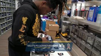USAA TV Spot, 'Salute to Service: Helmet Decals' Featuring Jarvis Landry, George Kittle - Thumbnail 3