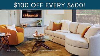 Scandinavian Designs TV Spot, '$100 Off Every $600 You Spend'