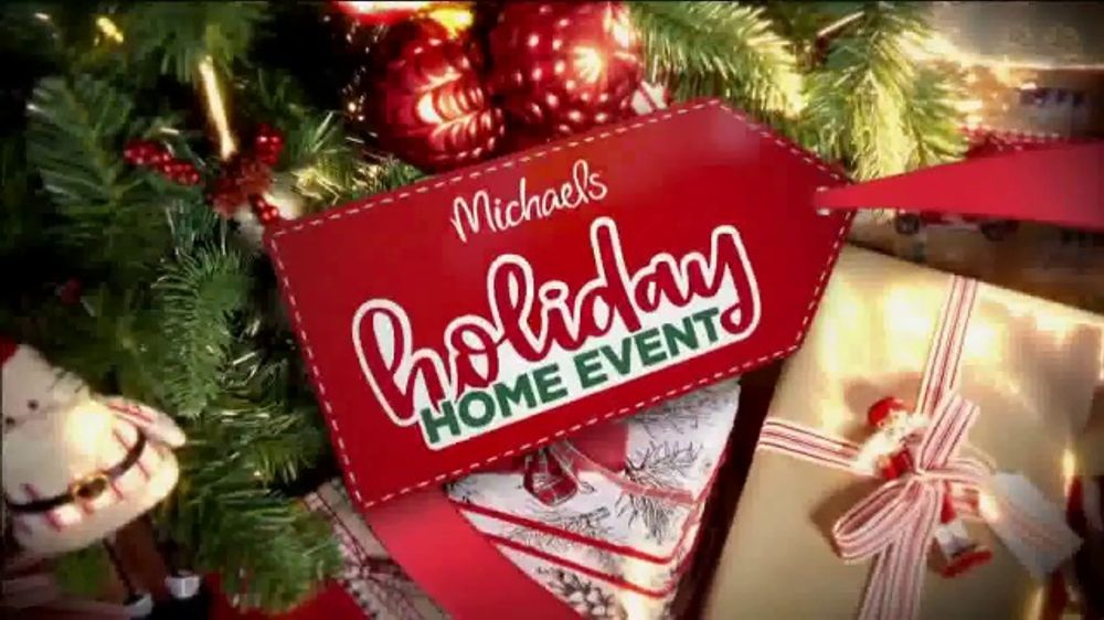 Michaels Holiday Home Event Tv Commercial All Christmas Decor Up To 60 Off All Trees Ispot Tv