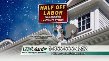 LeafGuard of Pittsburgh Winter Half Off Sale TV Spot, 'Presidents Day' - Thumbnail 5