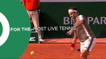 Tennis Channel Plus TV Spot, 'Most Live Tennis Anywhere' Feat. Roger Federer, Serena Williams - Thumbnail 1