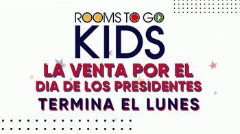 Rooms to Go Venta por el Día de los Presidentes TV Spot, 'Camas para niños' [Spanish] - Thumbnail 1