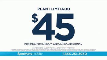 Spectrum Mobile TV Spot, 'Plan ilimitado: $45 dólares' [Spanish] - Thumbnail 3